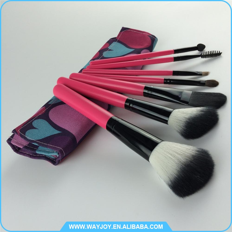 2016 trending products in europe traveling makeup brush set with kit
