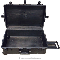 Anti impact ip67 rated durable waterproof large plastic equipment storage case with pick and pluck foam