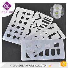 New arrival 4 designs metal stainless steel nail art stamp hollow image plate ,nail stamp stencil