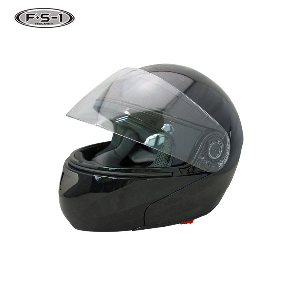 Unique design black German Dot approved dual visor flip up sport motorcycle helmet