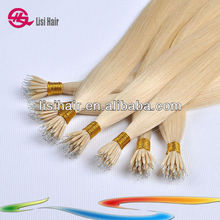 2014 newest fashion style wholesale price textures cheap 100% virgin indian nano ring hair