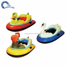cute duck kids battery operated inflatable PVC kids water bumper boats for slae