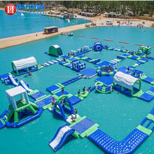 Cheap commercial use outdoor adults water games aqua waterpark , inflatable floating water park , aquapark equipment