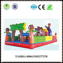 Bounce round inflatable water slide inflatable school bus bounce house inflatable flying manta ray QX-18121D