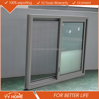 7 years warranty commercial aluminum Interior double glazed glass sliding windows