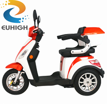 new design adult three wheel two seat mobility scooters for passenger and cargo