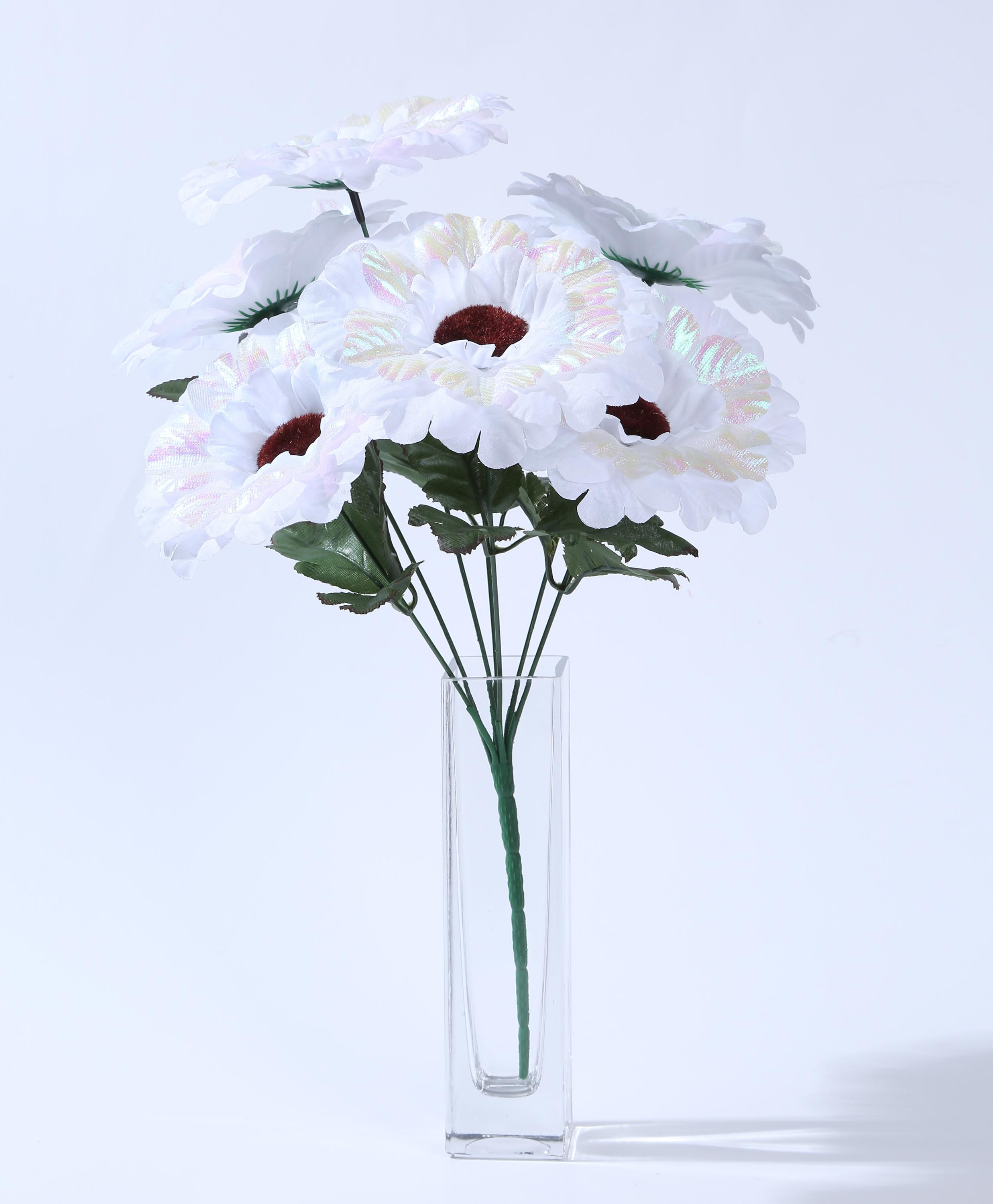 new design artificial flower 5 large silk flower heads