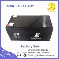 backup rechargeable 12v 3.3ah alarm battery