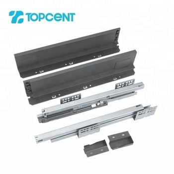 Full-extension tandem undermount soft close drawer slide