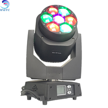 Pro Lighting Dot Controlled Mini Bee Eye Dmx Wash Zoom 4in1 Rgbw 7x15w Led Moving Head beam moving lights