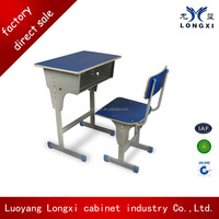 adjustable height children desk and chair,chair and desk attached,classroom desk and chair