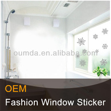 White window static cling sticker