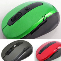 Hot Optical Wireless 2.4 GHZ Laptop PC Computer Netbook Mouse 6 Keys 1600 dpi High Quality Wheel Mouse Green
