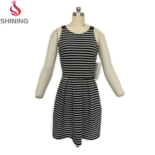 Women dresses fully lined strapless dresses for women cotton knitted night dress