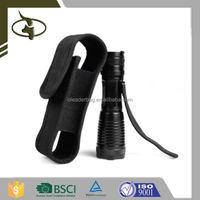 Heavy Duty Black Flashlight Holster Nylon Torch Pouch for Military