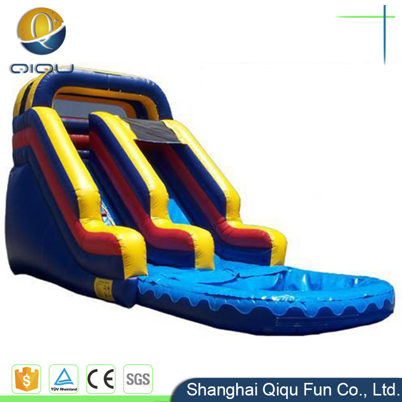 Attractive giant inflatable dry and wet slide water slide for sale