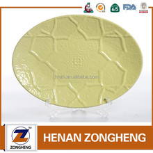 Cheap wholesale customized embossing fish cermic plates