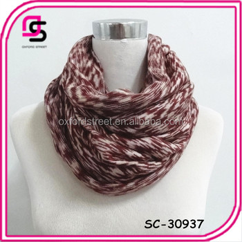 2016 fashion newest Stylish infinity scarf knitted snood scarf for cold winter