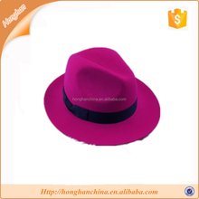 felame floppy hat wide brim faux Wool Felt Hat