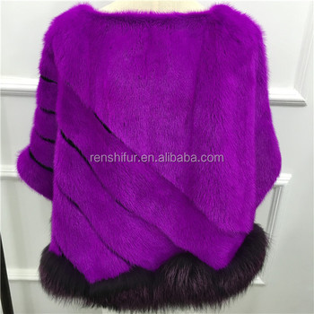 Wholesale China Fashion Mink Fur  fox fur Shawl