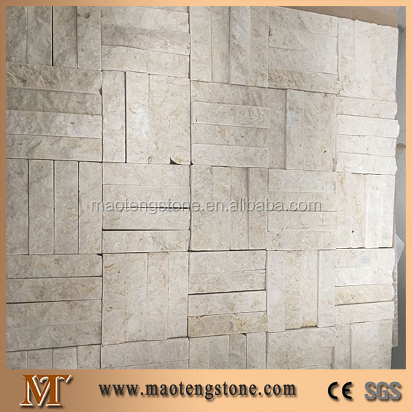 White square wall tile, quartzite culture stone mosaic, quartzite tile
