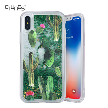 For iphone X Creative Design Liquid Case Flowing Liquid Quicksand Floating Bling Sparkle Clear Hard Case for iPhone X
