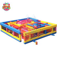 Hot sale customized size fun games inflatable obstacle course puzzle maze for kids and adults