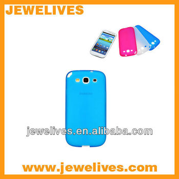 Best service Candy Colorful soft TPU case for samsung s3 i9300