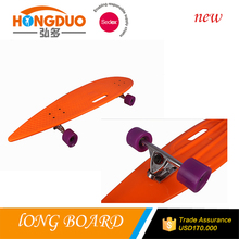 customized longboard cruiser,plastic original board,complete nickel longboards