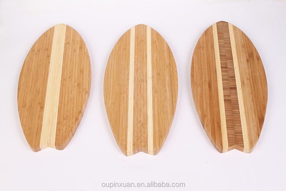 streifen surfbrett geformt bambus schneiden board mit lfgb. Black Bedroom Furniture Sets. Home Design Ideas