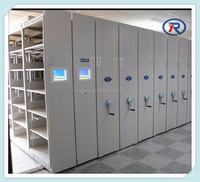 Office large capacity closed high density steel mobile file storage cabinet for box files/mobile shelving