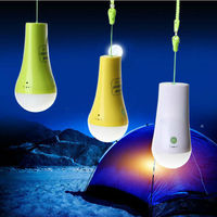 Tree decoration high brightness rechargeable portable power bank camping lamp led bulb light dimmable rain drop christmas lights