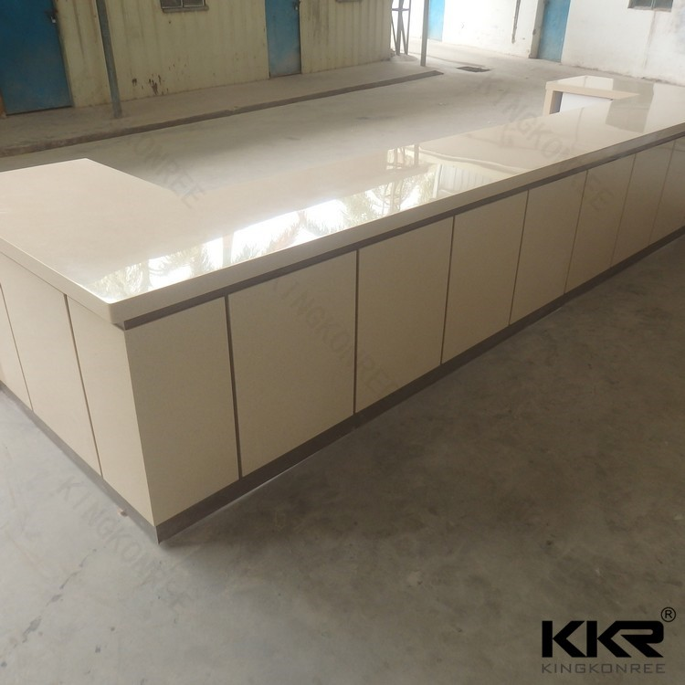 KKR customized acrylic solid surface starbucks furniture bar table products