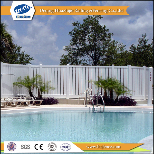 plastic pvc pool security fence