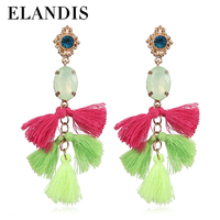 2015 Direct Factory Best Price All Jewelry Fashion Colorful Vintage Dangle Earrings Resin Indian Earring