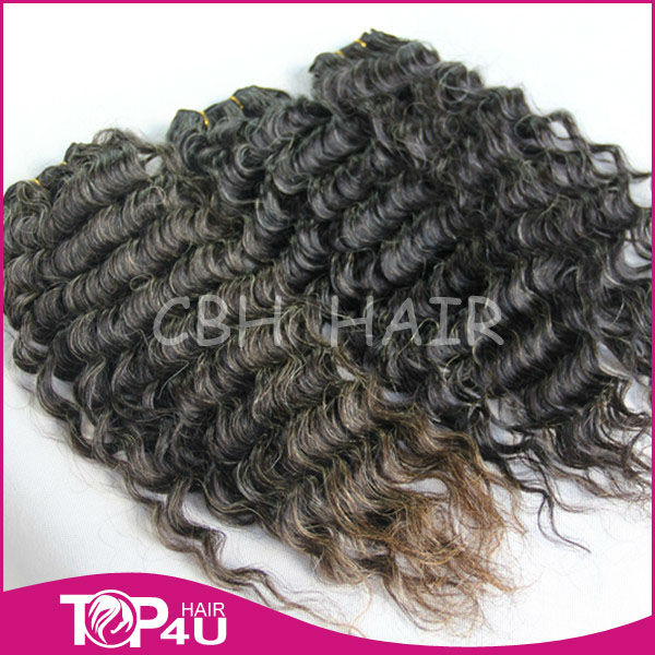 2014 new product grey hair extension hair weaving
