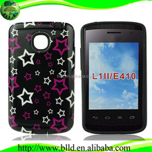 Custom-order design PC TPU cover for LG Optimus L1II E410