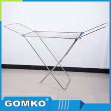 Manufacturer X shape flexible stretch out and back aluminum towel rack outdoor cloth dring rack