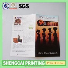 80gsm thin paper double accordion fold flyer / Leaflet / brochure printing