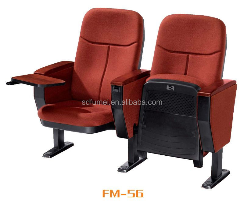 Wholesale price cheap auditorium chair with writing pad