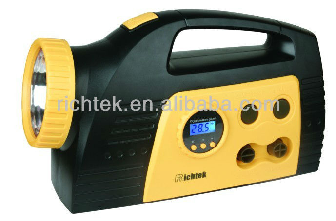 Rechargeable series 12v mini air compressor/ car mini air compressor with battery in low price