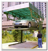 Family Use 2 Level Parking Car Lift Car Stack Parking System 1+1 Stack for Two Cars Double Deck Simple Parking Lift