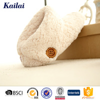 button senior wool no lace indoor slipper