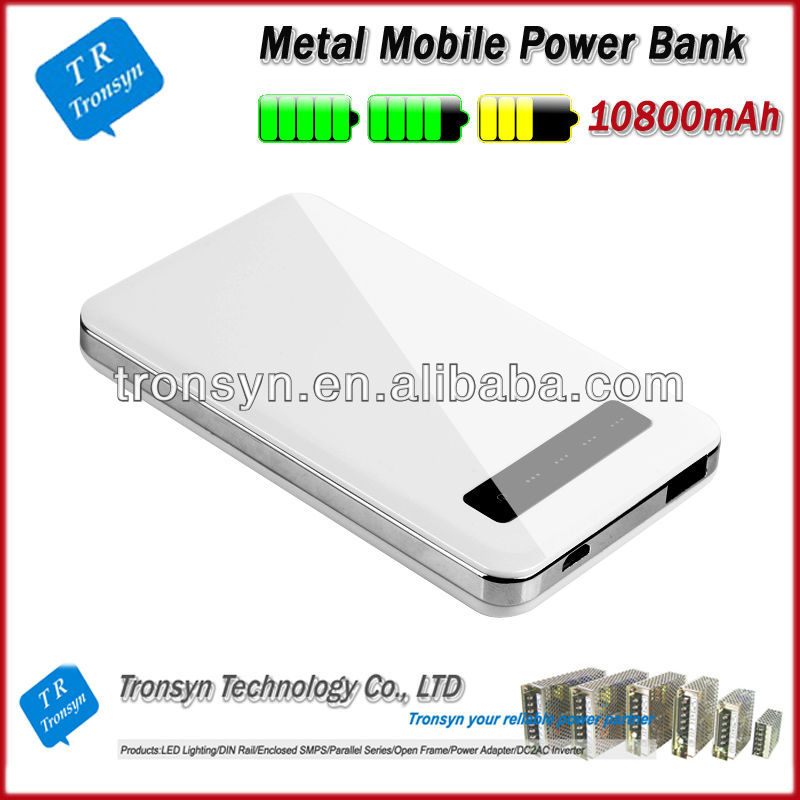 hot selling 10800mah mobile 2013 best power bank Supports charging of iPhone, iPod , Samsung, HTC and Nokia
