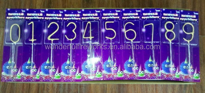 Number 0-9 electric sparkler fireworks party decoration