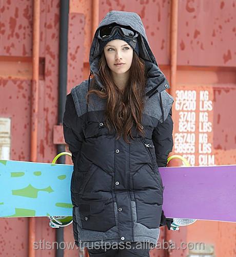 2014/2015 High quality Unisex warm Ski Snowboard jacket, Indi Jacket Black