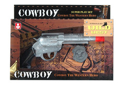 BO sound cowboy toy gun set with badge