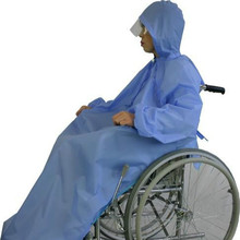 Adult 100% PEVA Disabled Wheelchair Poncho Raincoat with Customer's Logo