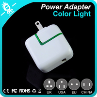 10w light super induction plug insert desktop battery charger with 1 usb 2.1A output