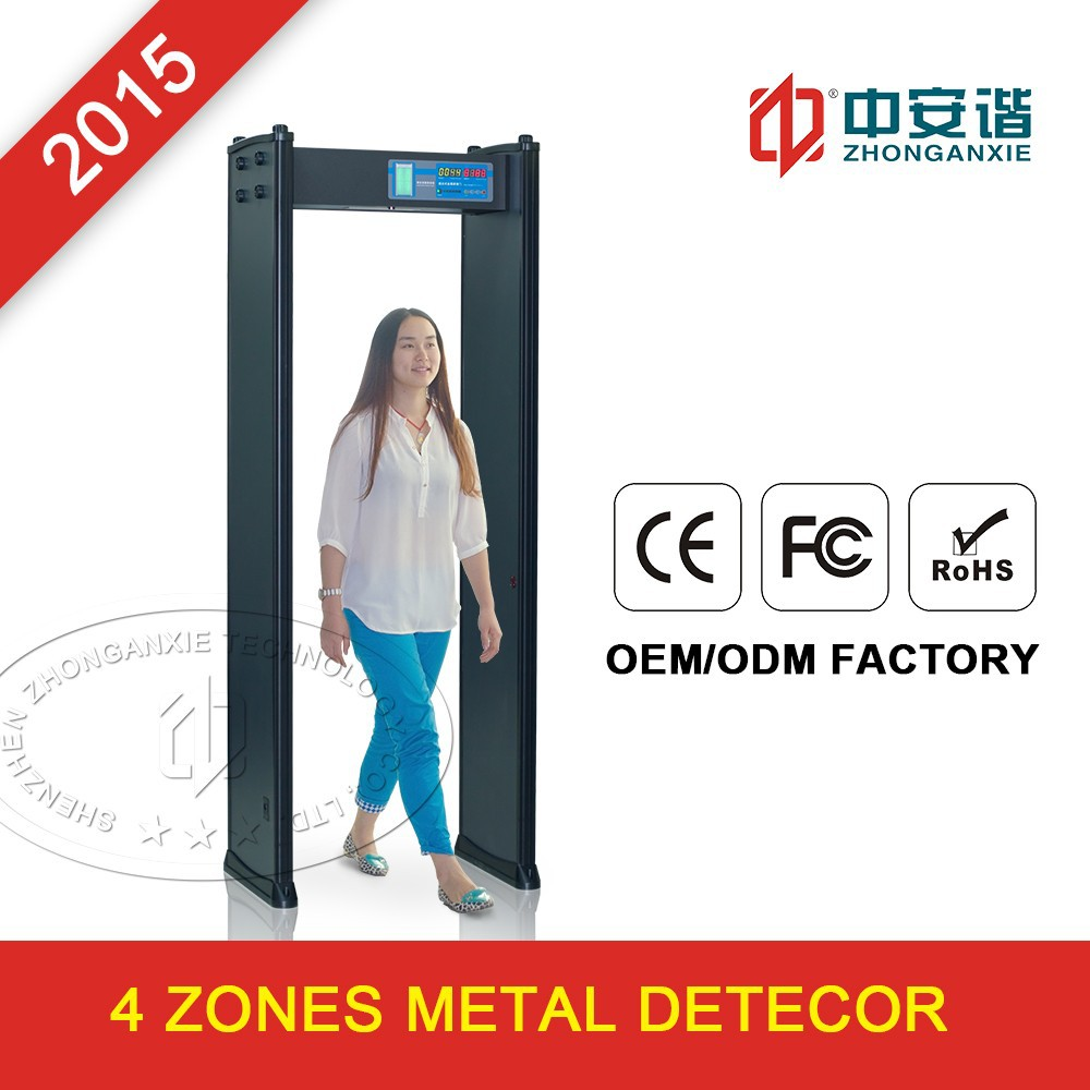 Airport security body scanner,Hand held metal detector,4 zone walk through metal detector gate